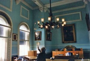 Arundel town hall lamp lit April 95