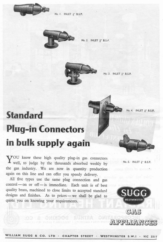 Brasswork Advt 3, Gas Journal June 4 1947 550 w