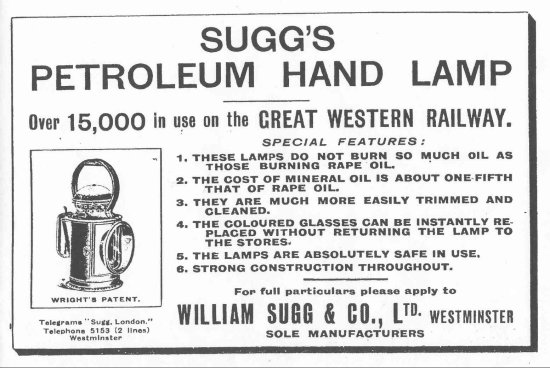 Hand lamp advert rot 550