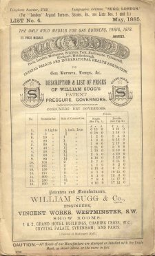 List 4 May 1885 Governor Prices 225