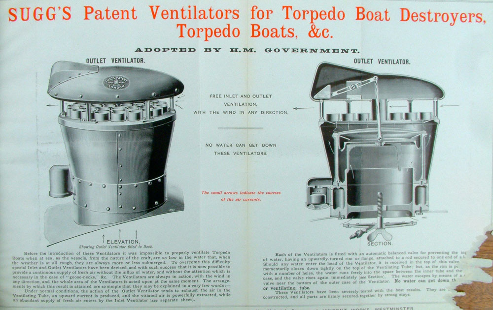 Ventilators for Torp Boat Destroyers (extract) 2